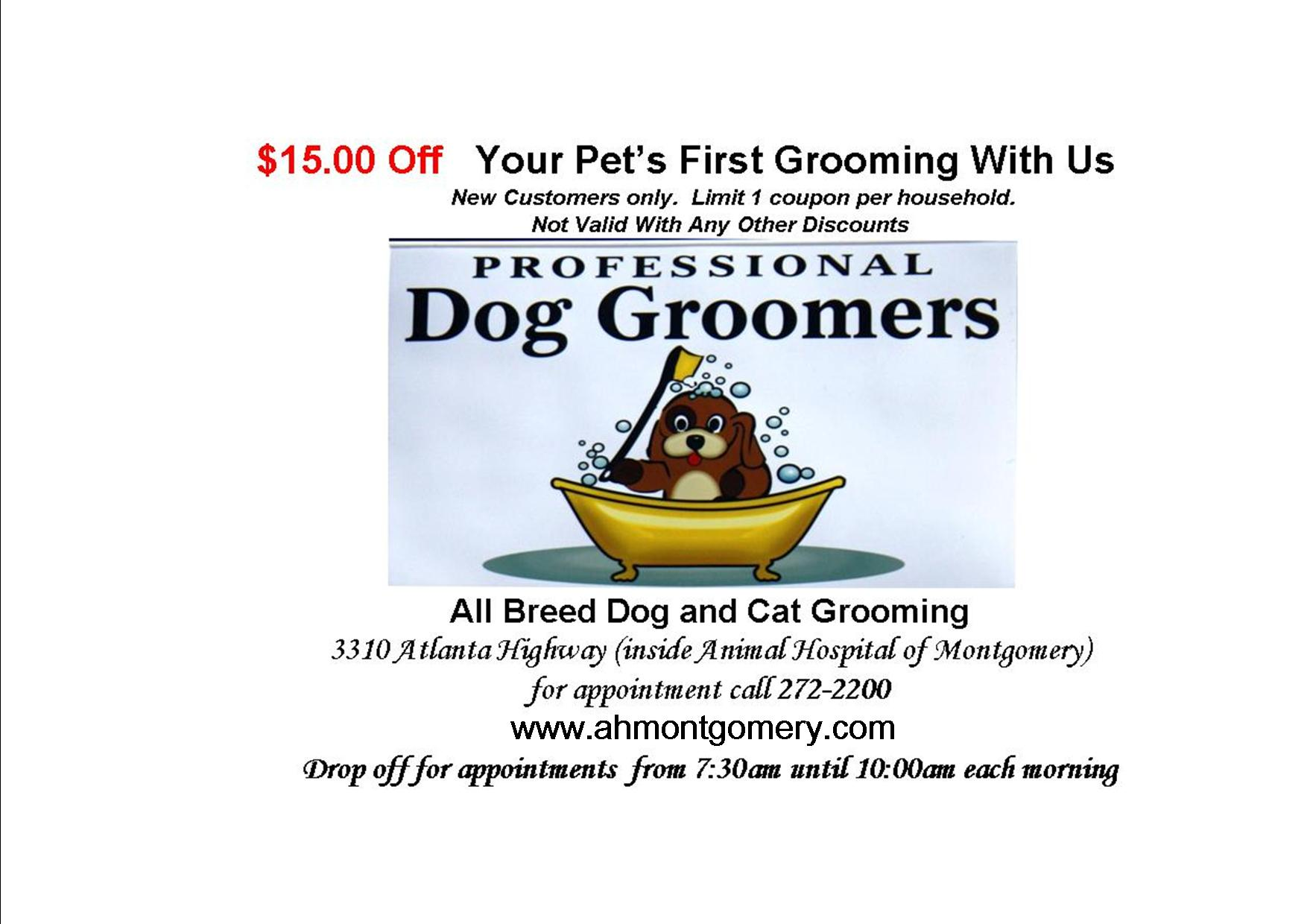 grooming coupon